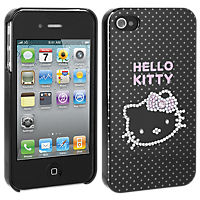 Hello Kitty Hard Cover for iPhone 4/4s - Black