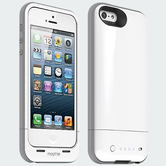 Mophie Plus Charging Case for iPhone 5 - White