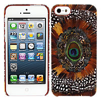 Lucky Peacock Feather Silicone Cover for Apple iPhone 5