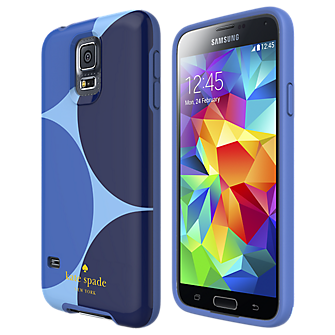 Flexible Hardshell Case for Samsung Galaxy S 5 - Oversized Dots