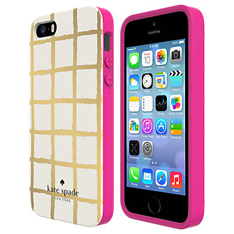 kate spade new york Flexible Hardshell Case for iPhone 5/5s - Painterly Check