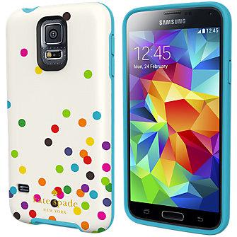 kate spade new york Flexible Hardshell Case for Samsung Galaxy S 5 - Confetti