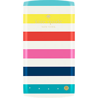 kate spade new york 4000mAh Portable Backup Battery - Candy stripe