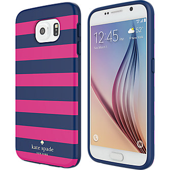 kate spade new york Flexible Hardshell Case for Samsung Galaxy S 6 - Candy Stripe