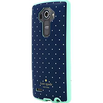 Flexible Hardshell Case for LG G4 Navy/Mint Dot