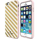 kate spade new york Flexible Hardshell Case for iPhone 6 - Gold Diagonal Stripe