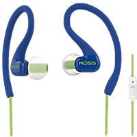 Koss FitClips Ear Clip Sports Headphones with Mic - Blue