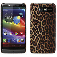 Lucky Leopard Print Hard Cover for Motorola Droid RAZR M