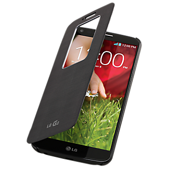 LG G2 QuickWindow Convenient Folio Case - Black