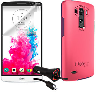 Premium Travel Bundle for LG G3 - Pink