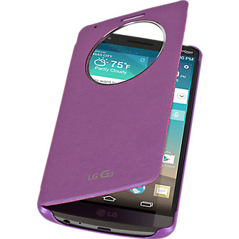 LG Quick Circle Folio Case for LG G3 - Violet