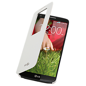 LG G2 QuickWindow Convenient Folio Case - White