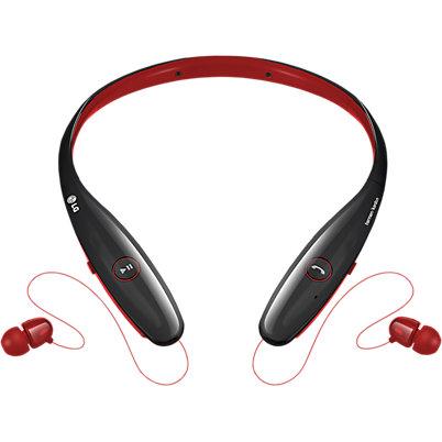 LG Tone Infinim Bluetooth Stereo Headset - Red