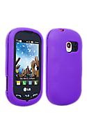 Snap On Silicone Gel Cover - Purple Picture
