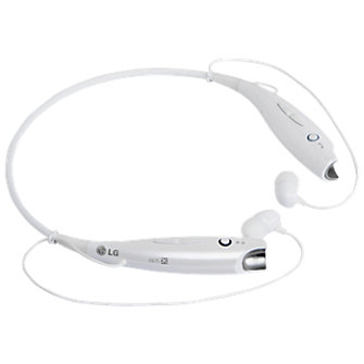 LG TONE+  Bluetooth Stereo Headset - White