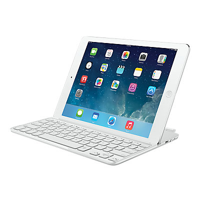 Logitech Ultrathin Keyboard Cover for iPad Air - White