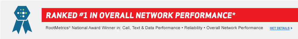 Ranked first in overall network performance