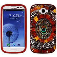 Lucky Peacock Feather Silicone Cover for Samsung Galaxy S III
