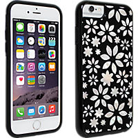 Milk and Honey Black and White Flower Mother of Pearl Cover for iPhone 6