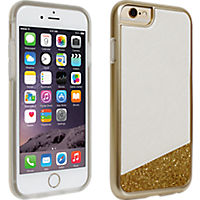 Milk and Honey White with Gold Glitter Cover for iPhone 6
