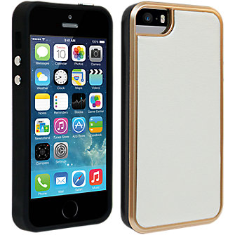 Milk & Honey White Vegan Leather with Rose Gold Case for iPhone 5/5s