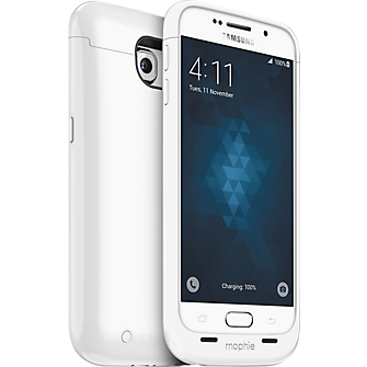 mophie juice pack for Samsung Galaxy S 6 - White