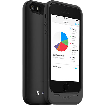 mophie space pack for iPhone 5/5s - 64GB Black