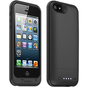 mophie plus Charging Case for iPhone 5 - Black