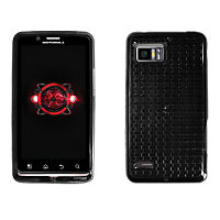 High Gloss Silicone Cover for Motorola DROID Bionic - Black