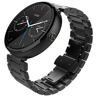 Moto 360 - Metal Band - Dark Finish