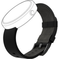Leather Band for Moto 360 - Black