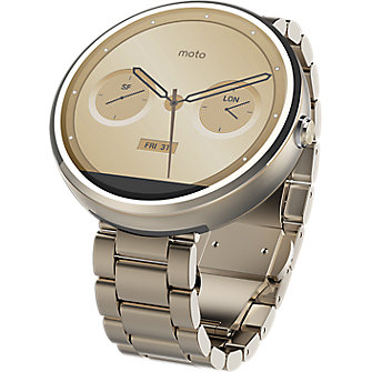 Moto 360 - Metal Slim Band - Champagne