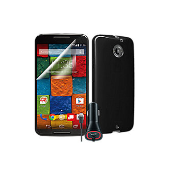 Essential Travel Bundle for Moto X (2nd Gen.) - Black