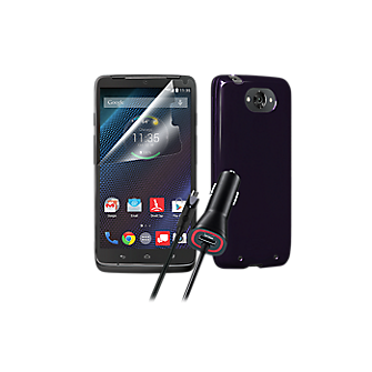 Silicone Case Bundle for Droid Turbo - Purple