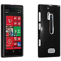 High Gloss Silicone Cover for Nokia Lumia 928 - Black