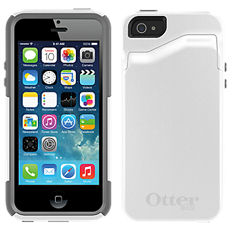 official photos 8991a 60931 OtterBox Commuter Wallet Series for iPhone 5/5s – White   Phone Carriers