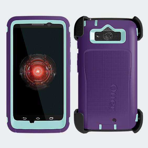 OtterBox Defender Droid Mini - Purple with Blue - Black