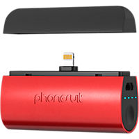 PhoneSuit Flex XT Pocket Charger for iPhone and iPod - Red