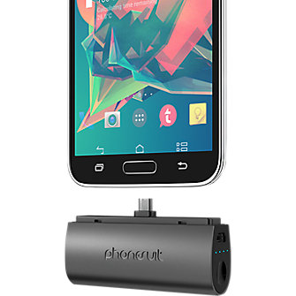 PhoneSuit Flex XT Pocket Charger for Samsung and Android Smartphones - Black