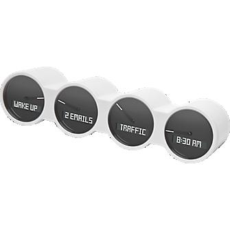 Quirky Nimbus 4 Dial Dashboard - White