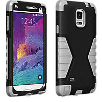 Rugged Case for Samsung Galaxy Note 4 - Black/Gray