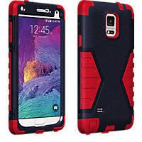 Rugged Case for Samsung Galaxy Note 4 - Navy/Red
