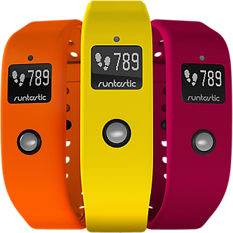 Runtastic Orbit Colored Wristbands (Sunshine Yellow + Ordinary Orange + Fantastic Fuchsia)