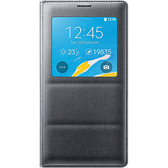 S-View Flip Cover for Samsung Galaxy Note 4 - Charcoal