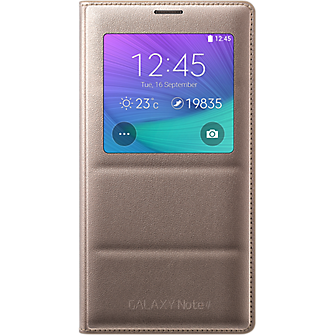 S-View Flip Cover for Samsung Galaxy Note 4 - Gold