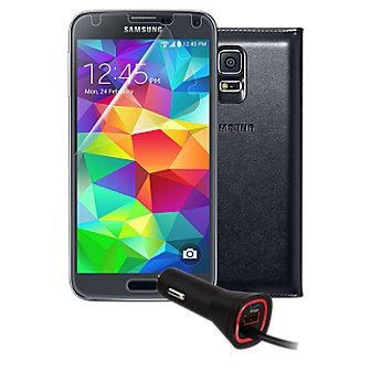 Premium Travel Bundle for Samsung Galaxy S 5 - Black