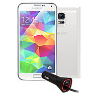 Premium Travel Bundle for Galaxy S 5 - White
