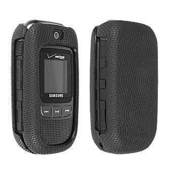 Black Rubberized Snap On Cover for Samsung Convoy