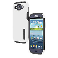 Incipio Double Covers Silicone and Hard Cover (White/Gray)