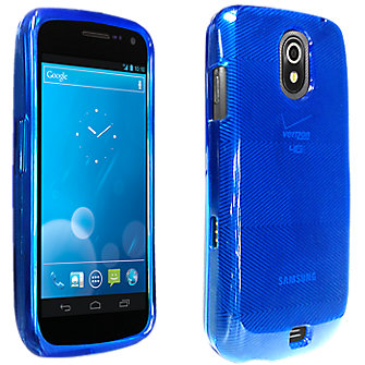High Gloss Silicone Cover for Samsung Galaxy Nexus - Blue